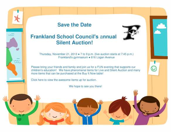 Silent Auction Save the date 2013 online