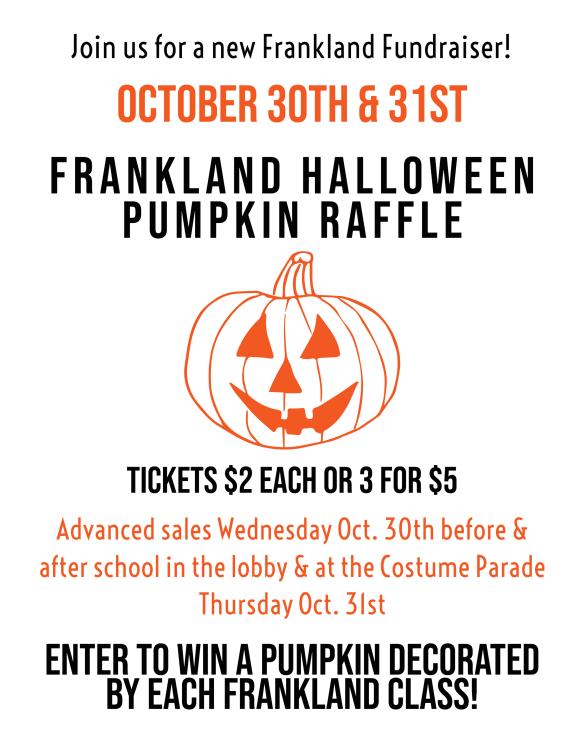 Halloween Pumpkin Raffle Letter 2019